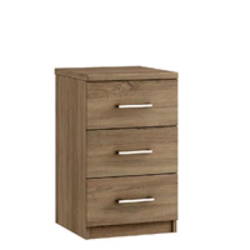 """Modena 15"""" 3 Drawer Bedside Cabinet"""